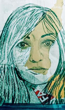 collage self portrait A4+ size