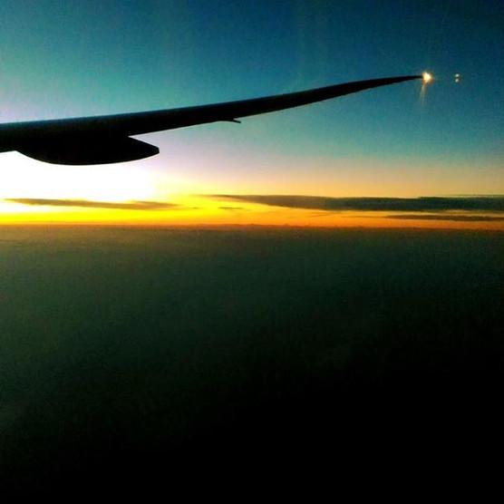 Flight over the Ocean