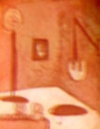 Cheeky dip... night room, etching on Som