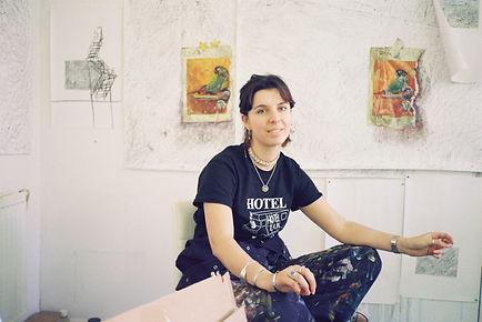 Willa in studio - photo by Lucy Davies.j