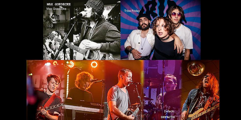 Max Goedecke & Band / Tribe Friday / DeFacto (Verschoben vom 15.5.2021)