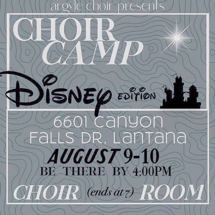 Choir Camp - Disney Edition