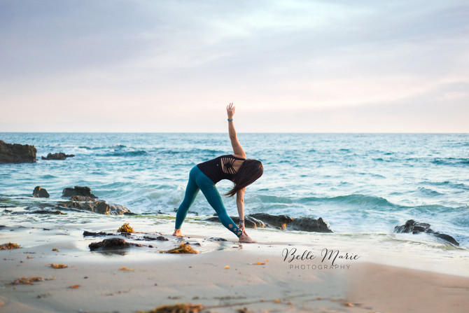 Sunset Yoga Portraits with Vegan Chef