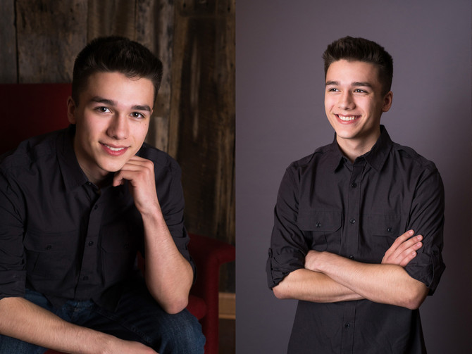High School Senior Guy Studio Photo Shoot