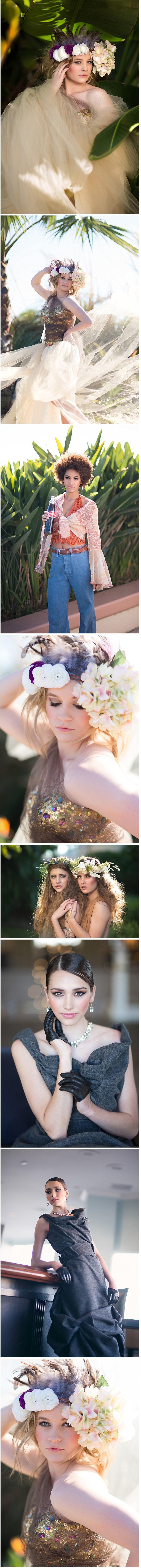 Conceptual styled senior photography shoot