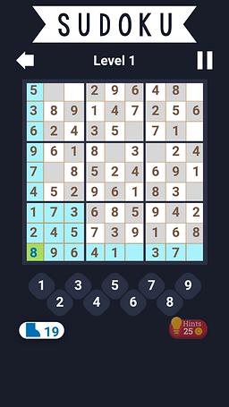 Screenshot Box Puzzle Games and Sudoku