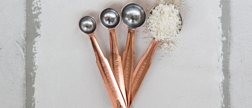 Copper Finish Measuring Spoons