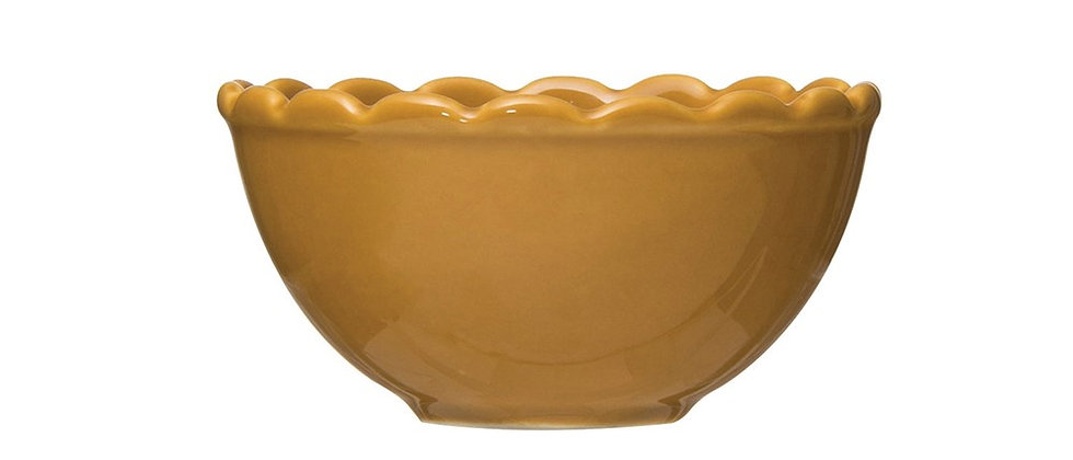 Scalloped Mustard Bowl