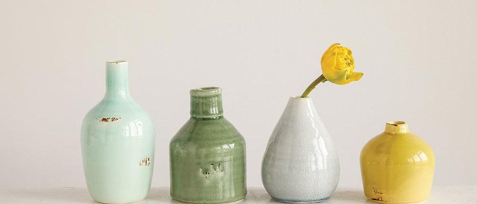 Terra Cotta Bud Vase Set of 4