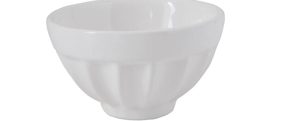 """White Stoneware Bowl 4"""""""
