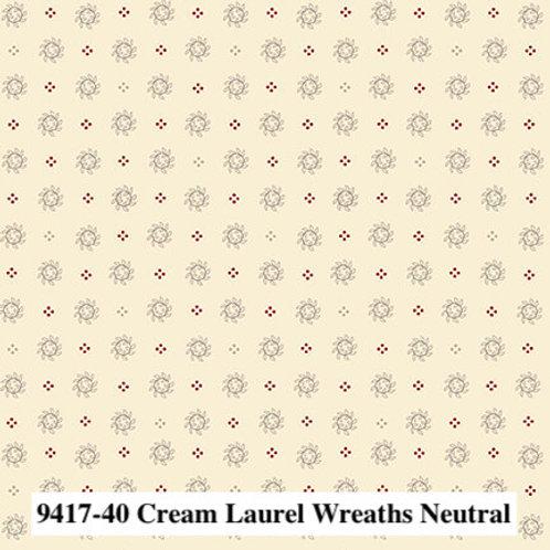 Laurel Wreaths Neutral Cream