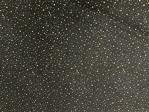 Black with Gold & Silver Polkadot