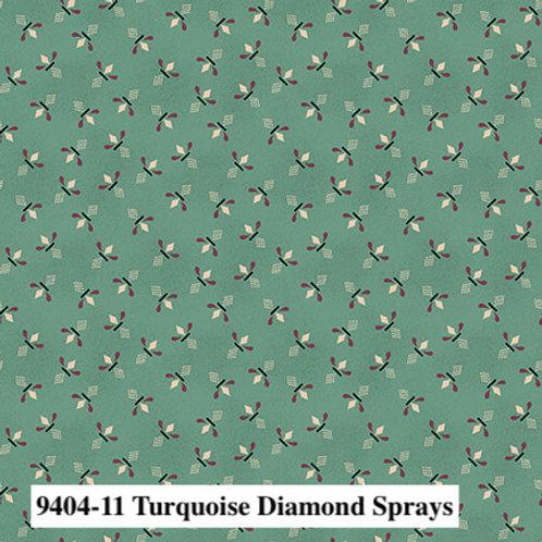 Diamond Sprays Turquoise