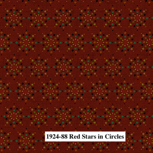 Red Stars in Circles