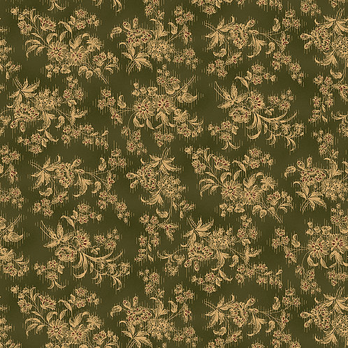 Sylized Floral Green