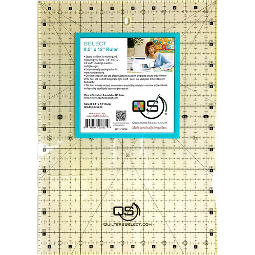"""Quilter's Select 8.5"""" X 12"""" Ruler"""