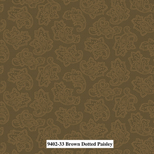 Dotted Paisley Brown