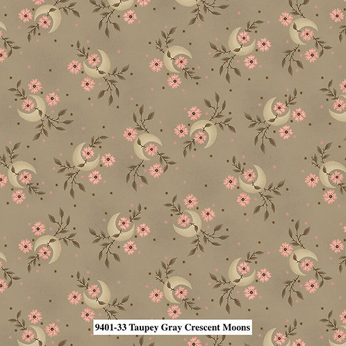 Crescent Moons Taupey Gray