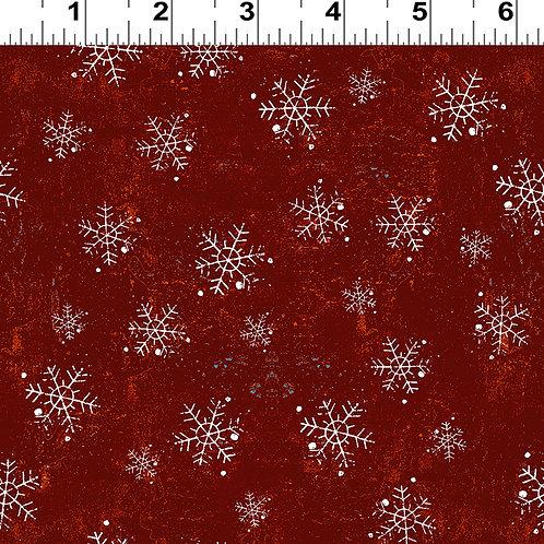 Winter Playground Red Snowflake