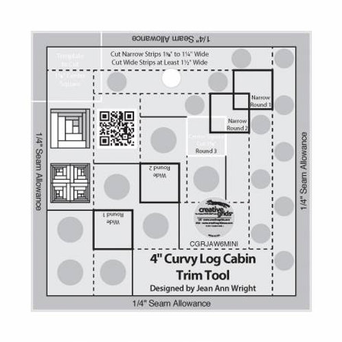 "4"" Curvy Log Cabin Trim Tool"