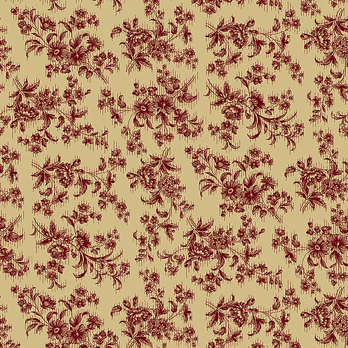 Red Delicate Floral Beige