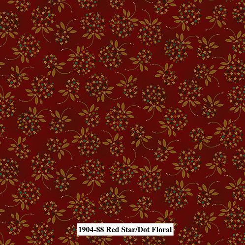 Red Star Dot Floral
