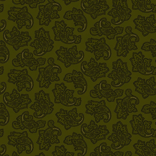 Delicate Paisley Green
