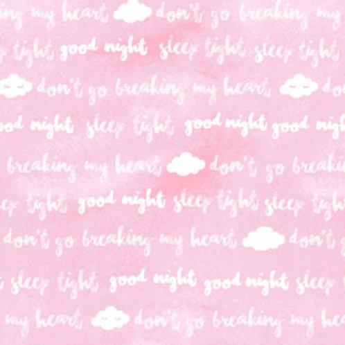 Baby Safari Pink Words