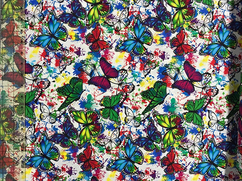 Butterflies & Color Splatter