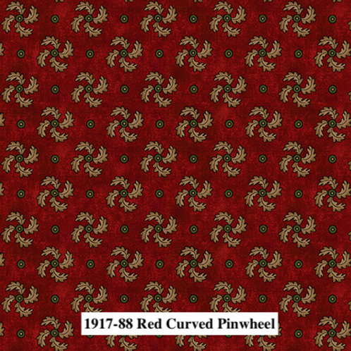 Red Curved Pinwheel