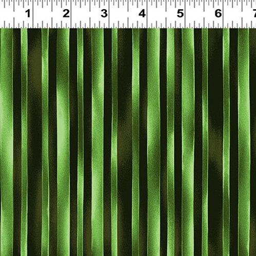 Trellis Watercolor Stripe Dark Lime