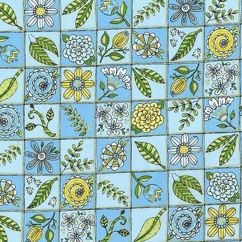Doodle Garden Blue
