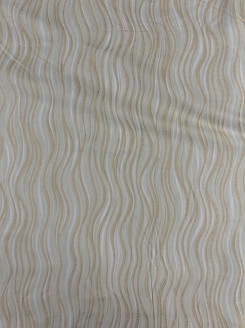 Light Cream Silver Metallic Wave - Laurel Burch