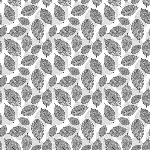 Black & Gray Large Leaves