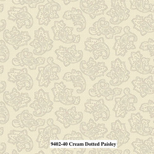 Dotted Paisley Cream