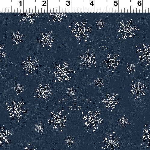 Winter Playground Navy Snowflake