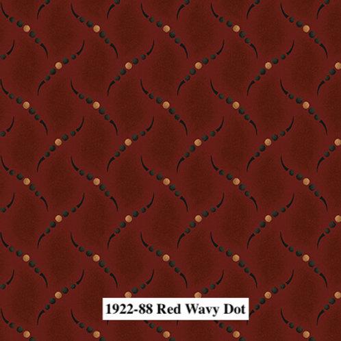 Red Wavy Dot