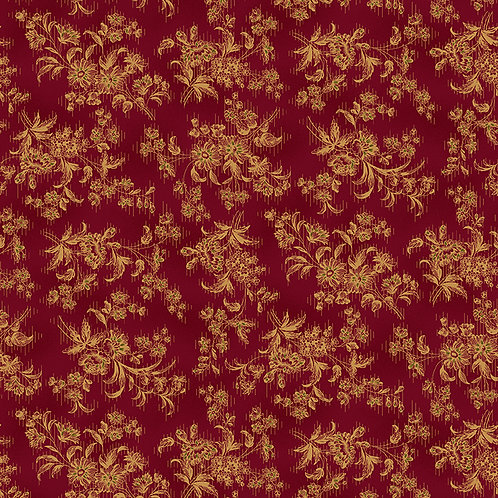 Sylized Floral Red
