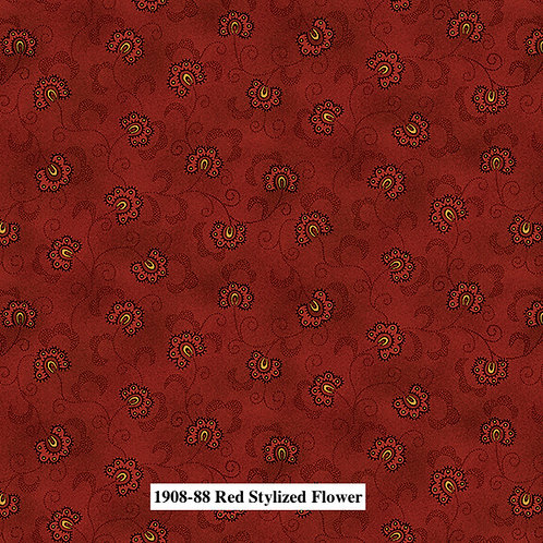 Red Stylized Flower