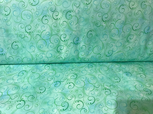 Swirling Splendor Mint 108""