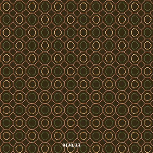 Dotted Hexies, Brown