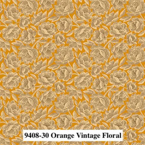 Vintage Floral Orange