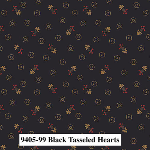 Tasseled Hearts Black