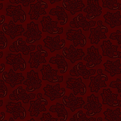 Delicate Paisley Red