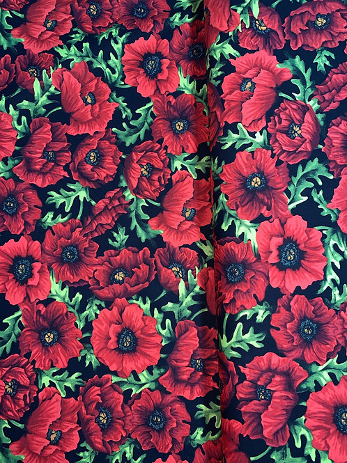 Poppy Poetry Poppies Yardage