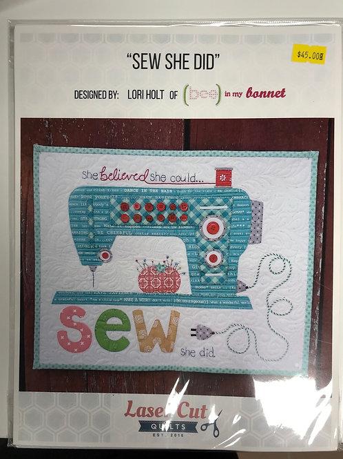 Sew She Did
