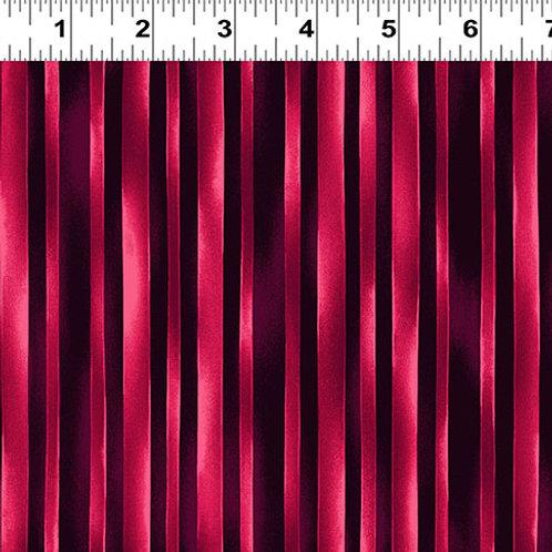 Trellis Watercolor Stripe Dark Fuchsia