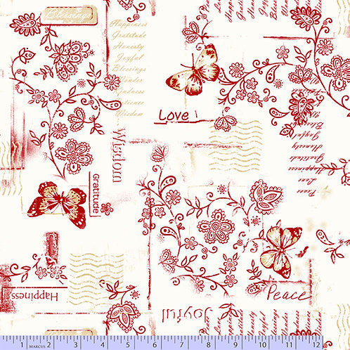 """108"""" Marcus Fabric Backing Red"""