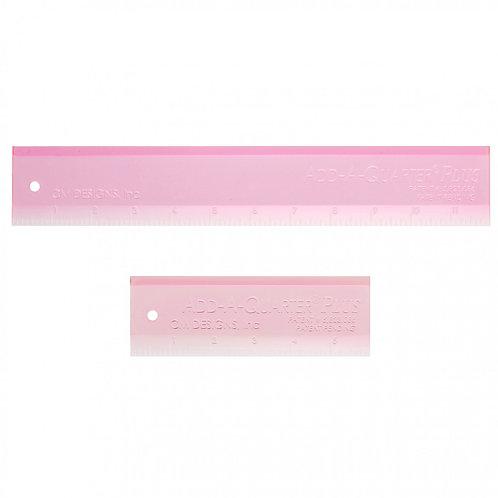 Add A-Quarter Ruler Combo Pack Pink