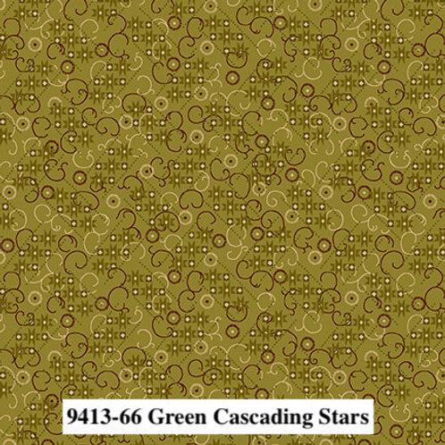 Cascading Stars Green